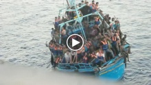 Between 30-181 people die of suffocation, drowning and/or stabbing south of Lampedusa